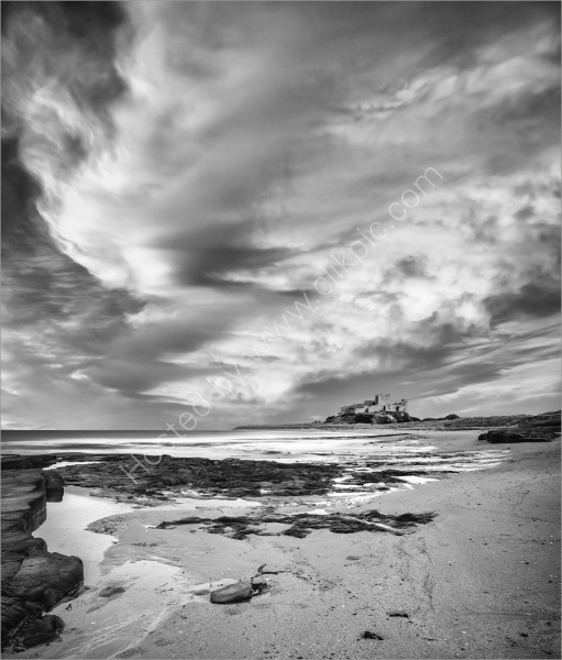 EVENING CLOUD FORMATION BAMBURGH by Mike Arblaster