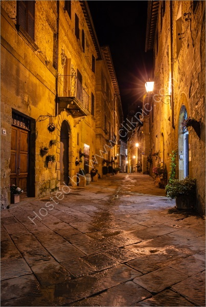 EVENING IN PIENZA by Mike Arblaster