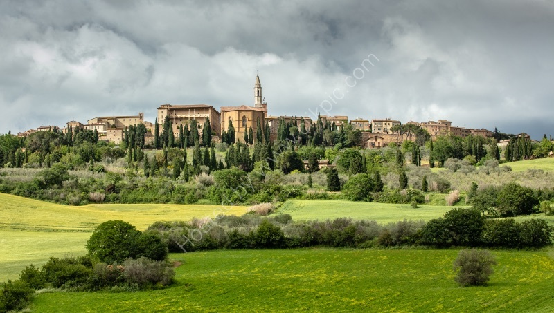 GATHERING RAIN CLOUDS - PIENZA by Mike Arblaster