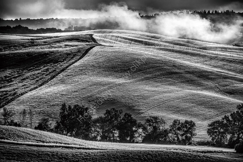 MISTS AND FOLDS, D'ORCIA VALLEY by Ashley Franklin