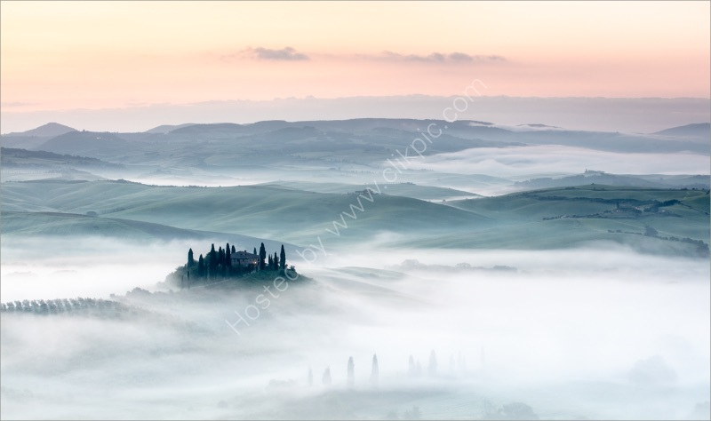 MIST ACROSS VAL D'ORCIA by Mike Arblaster