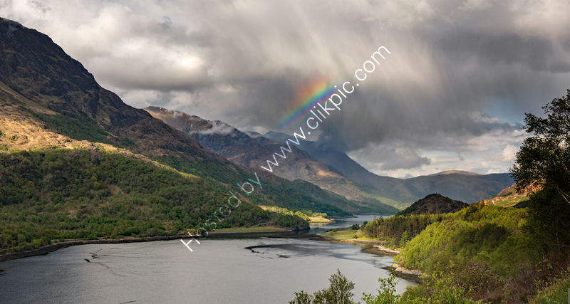 RAIN CLOUD OVER LOCH LEVEN by Mark Constable
