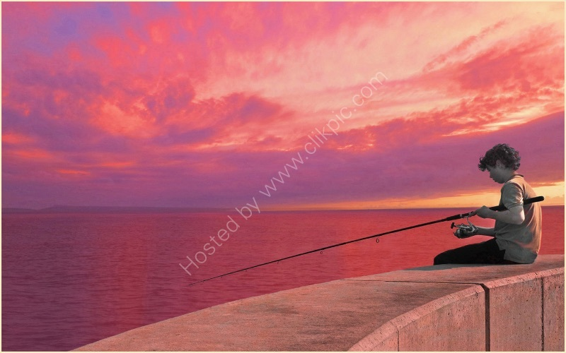 RED SKY AT NIGHT ANGLER'S DELIGHT by Sue Swain