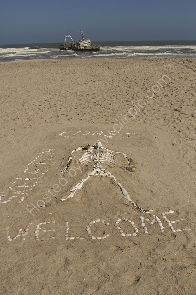 SKELETON COAST WELCOME by Malcolm Neal