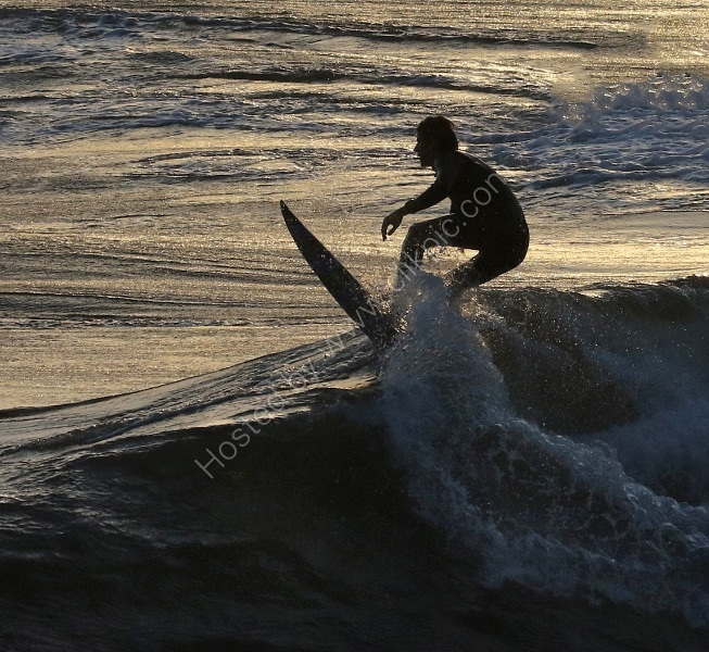 SURFING SILHOUETTE by Stanley J Annable