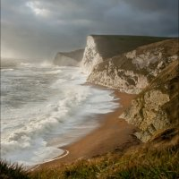 STORMY DAY ON THE JURASSIC COAST