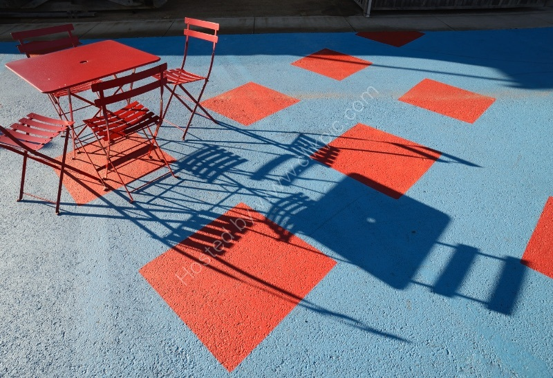 TABLE, CHAIRS, SHADOWS by Peter Dishart