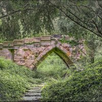 THE LITTLE BRIDGE AT NEWTON SOLNEY by Ashley Franklin
