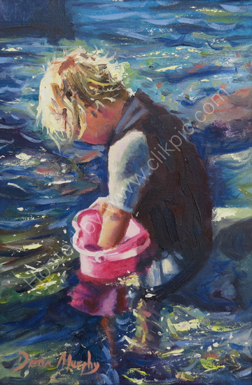..SOLD. Boy in Rockpool £325