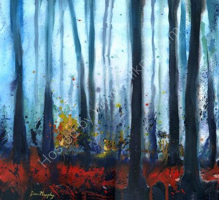 Blue Mist Woodland Framed original £495