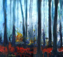 Blue Mist Woodland Framed original £495