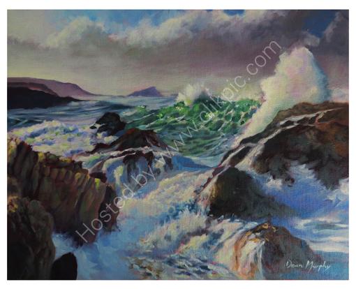 Atlantic Swell Crashing on Rocks  £695