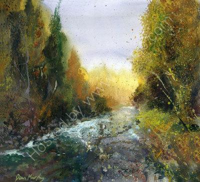 Original SOLD. Autumn Woodland River