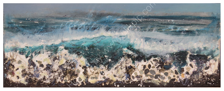 Breaking wave on rocks £995
