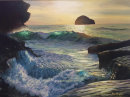 Evening Sun Wave Trebarwith Strand. £2400