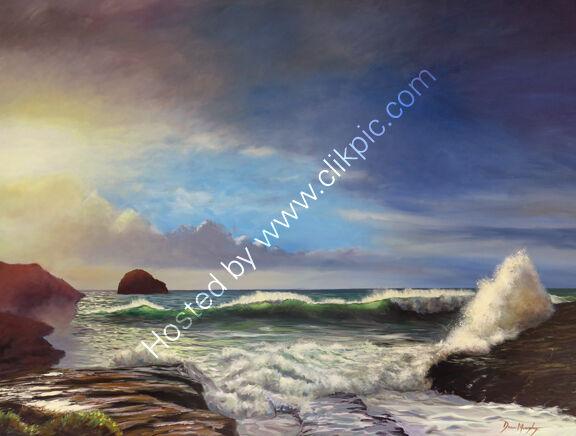 Evening sunset Trebarwith Strand £2800
