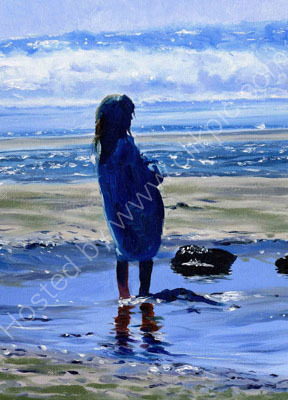Girl watching incoming tide. £525
