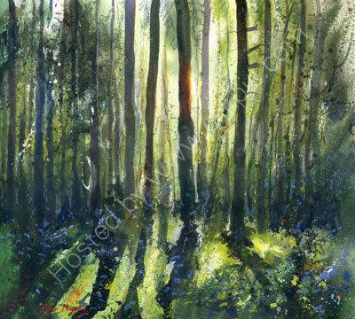 Sunlit  Green Woodland Original SOLD