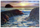 SOLD.Gully foam Trebarwith sunset