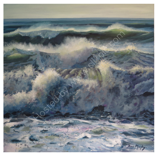 SOLD.Incoming Wave Set Doubling Up. £1200
