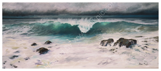 Incoming wave under moody sky. £1200