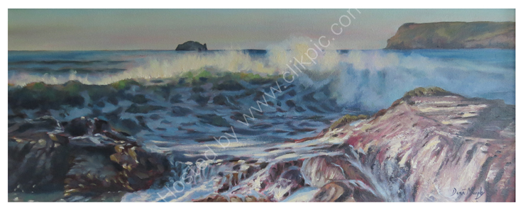 SOLD. Late Evening Wave Grenaway Polzeath £795