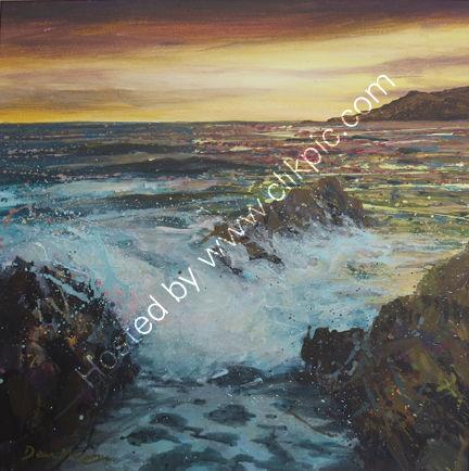 SOLD.Late evening sunset £695