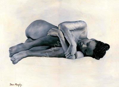 Nude girl lying on side £595