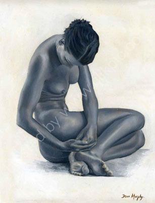 Nude girl sitting.£595