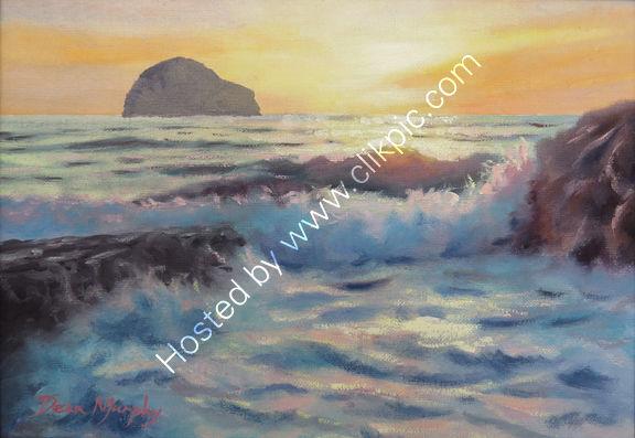 SOLD.Sunset surf Trebarwith Strand £325