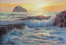 SOLD.Sunset surf Trebarwith Strand £325