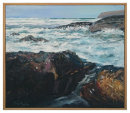 SOLD. Surf rocks towards Hull beach Trebarwith £800
