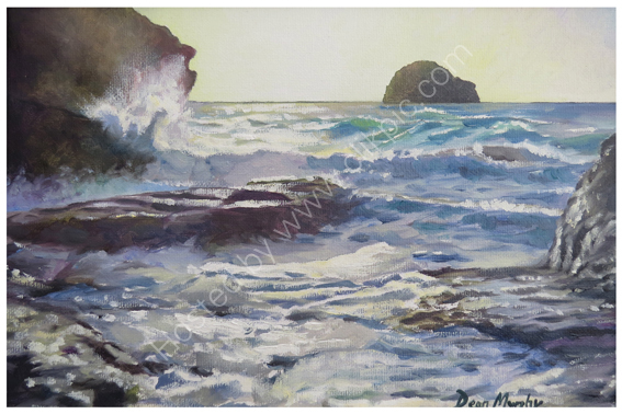 SOLD. Trebarwith Strand High Tide Late Afternoon