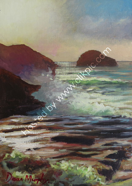 Trebarwith strand high tide sunset £250