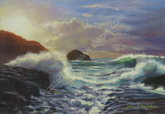 ...  SOLD High tide surf Trebarwith Strand £525