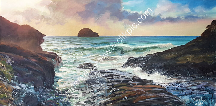 ... Trebarwith Strand evening light 01 £750