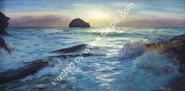...   Trebarwith Strand Gully Sunset £750