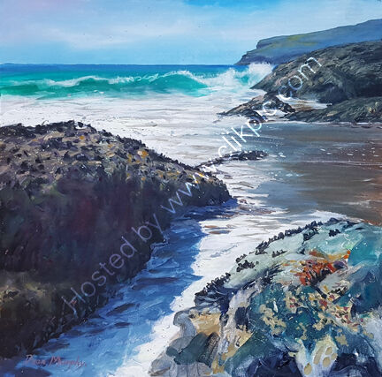... SOLD.Trebarwith strand Penalick point shore break £750