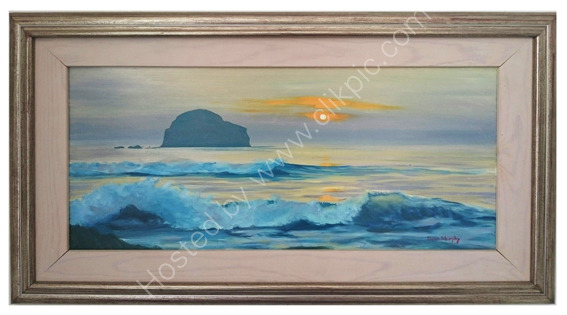 SOLD. Sunset Trebarwith Strand £295