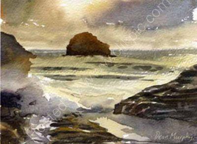 Sunset Trebarwith Strand