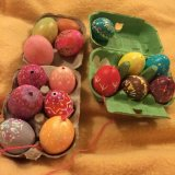 Czech Easter eggs, using wax and dyes