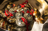 Baubles in Brass bowl
