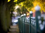 Park railings on Barnby Gate