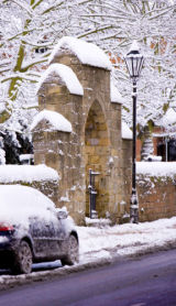 Westgate closeup in snow