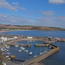 Stonehaven Harbour from Bervie Braes