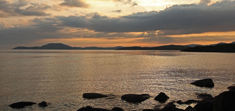 Sunset at Badenscallie, Achiltibuie