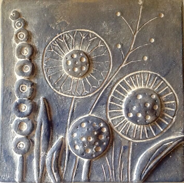 Floral wall plaque