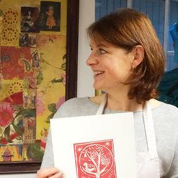 Lino printing with Carol Nunan