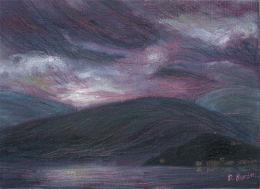 Purple Lake Beneath a Purple Sky
