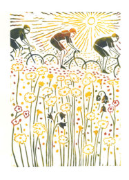 Sun, Flowers and Cyclists